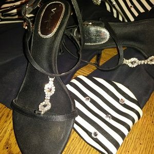 Black evening shoes